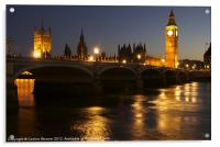 Big Ben & The Houses of Parliament at night, Acrylic Print