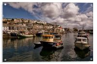 Mevagissey Fishing Harbour in Cornwall, Acrylic Print