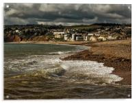 Stormy Skies over Axmouth, Acrylic Print