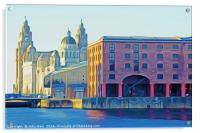 Three Graces in Liverpool (Digital Art), Acrylic Print