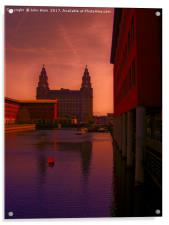 Liver Building from the Princes Dock, Acrylic Print