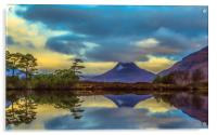 Stac Polly in the Highlands, Acrylic Print