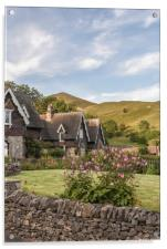 Ilam Village, Peak District, Acrylic Print