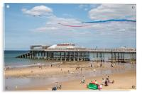 Red Arrows Flying Over Cromer Pier , Acrylic Print