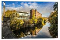 St James Mill, Norwich, Acrylic Print