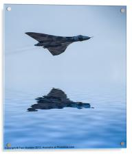Vulcan Bomber Over The Water, Acrylic Print