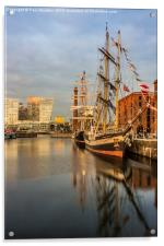 Pelican and Mercedes tall ships, Acrylic Print