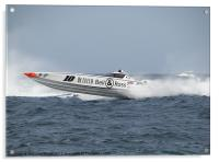 Offshore Powerboat Racer, Acrylic Print