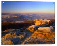 Winter Landscape on Millstone Edge, Acrylic Print