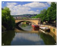 North Parade Bridge & River Avon, Acrylic Print