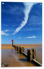 Cleethorpes Beach at Low Tide, Acrylic Print