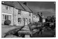 Swanage Mill Pond & Cottages, Acrylic Print