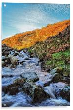 Burbage Brook Waterfalls, Acrylic Print