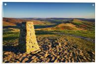 View from Mam Tor Summit , Acrylic Print