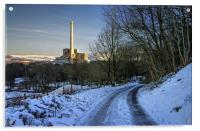 Lafarge Cement Works in Hope, Derbyshire , Acrylic Print