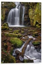Lumsdale Falls and Bentley Brook , Acrylic Print