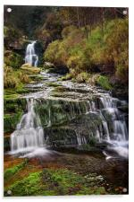 Middle Black Clough Falls, Acrylic Print