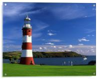 Smeatons Tower on Plymouth Hoe, Acrylic Print