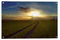 Penny Hill Sunset, Acrylic Print