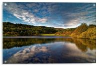 Rivelin Dams Reflections, Acrylic Print
