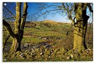 Lose Hill and Hope Valley , Acrylic Print