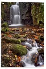 Lumsdale Falls in Autumn , Acrylic Print