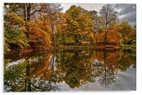 Lumsdale Autumn Reflections , Acrylic Print