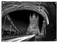 Tower Bridge London at Night , Acrylic Print