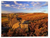 Over Owler Tor & Stanage Edge, Acrylic Print