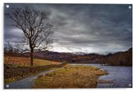 Rydal Water in Winter                             , Acrylic Print