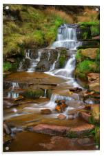 Nether North Grain Waterfalls                     , Acrylic Print