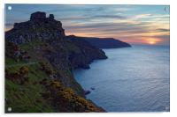 Valley of the Rocks Sunset                        , Acrylic Print