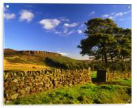 View towards Millstone Edge, Acrylic Print