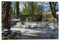 Upper Coppice Weir & Packhorse Bridge, Rivelin, Acrylic Print