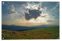 Crespuscular Rays from Crook Hill, Acrylic Print