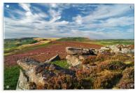 View from Over Owler Tor                    , Acrylic Print