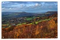 Hathersage and Hope Valley                    , Acrylic Print