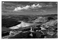 Ladybower from Bamford Edge                       , Acrylic Print