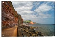 Coastline at Sidmouth                       , Acrylic Print