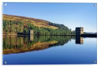 Derwent Dam and Reservoir                         , Acrylic Print