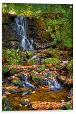 Porter Clough Waterfalls                          , Acrylic Print