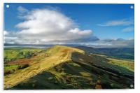 The Great Ridge from Back Tor                     , Acrylic Print
