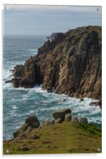 Rugged Cornwall, Acrylic Print