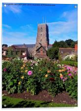DREAM GARDEN AND ST GEORGE DUNSTER, Acrylic Print