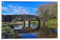 OLD BRIDGE TWO BRIDGES DARTMOOR, Acrylic Print