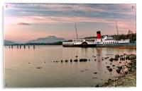 Maid Of The Loch Paddle Steamer, Acrylic Print