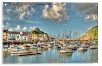 Ilfracombe Harbour North Devon, Acrylic Print