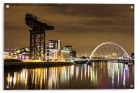 Clydeside By Night, Acrylic Print