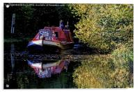 Anyone for coal on the oxford canal, Acrylic Print