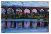 Viaduct at Reddish Vale Country Park, Acrylic Print